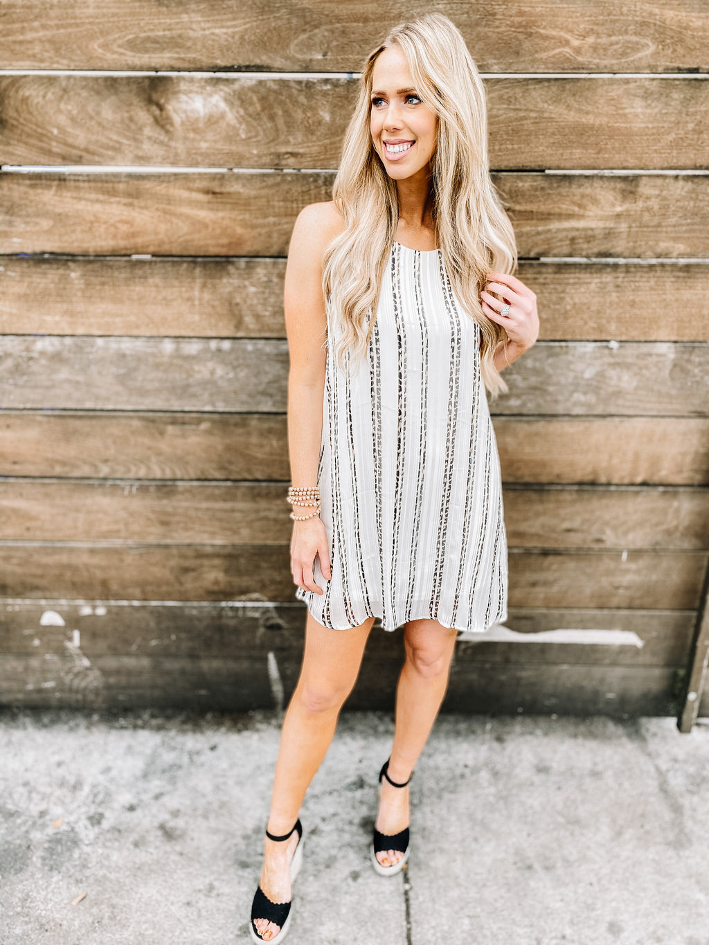 CHEETAH STRIPED DRESS