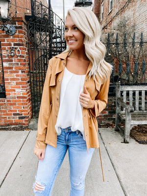 BUTTERSCOTCH SHORT TRENCH JACKET