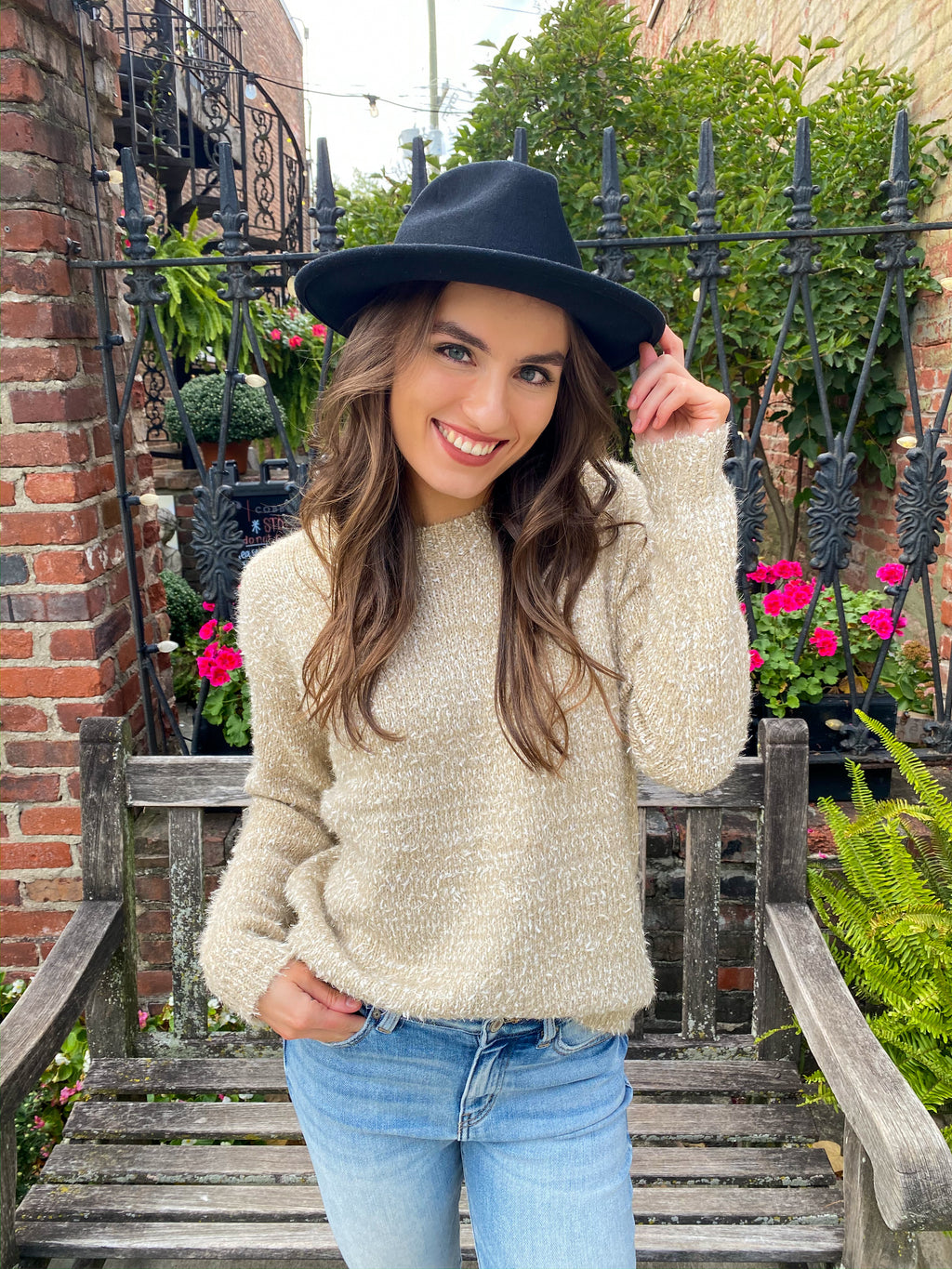 "<img src=""Sparkle-Detail-Fuzzy-Sweater-Vanilla-Front.jpg"" alt=""sparkle detail fuzzy sweater in vanilla front view"">"