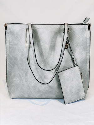 Grey 4-In-1 Purse Set