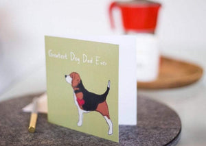Greatest Dog Dad Ever - Beagle Father's Day Card