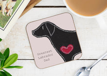 Load image into Gallery viewer, Labrador Greatest Dog Parent Coaster