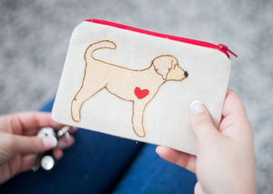 Labradoodle - Dog Embroidery - Small Useful Coin Purse