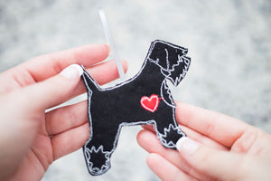 Schnauzer - Dog Embroidery - Small Useful Coin Purse