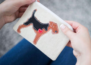 Welsh Terrier - Dog Embroidery - Small Useful Coin Purse