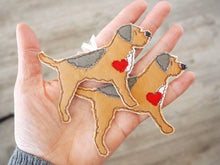 Load image into Gallery viewer, Double Border / Lakeland Cross Terrier Dog Fabric Hanging Decoration