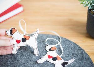 Jack Russell - Double Fabric Dog Decoration