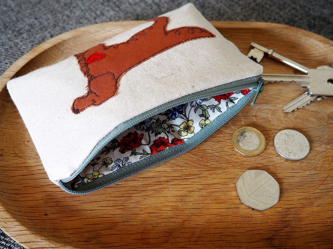 Irish Red Setter - Dog Embroidery - Small Useful Coin Purse