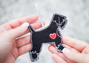 Miniature Schnauzer - Fabric Dog Decoration
