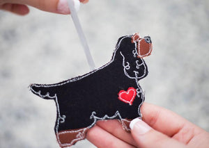 Show Cocker Spaniel - Fabric Dog Decoration