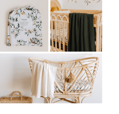 Load image into Gallery viewer, Snuggle Hunny Eucalypt Gift Set – Swaddle, Beanie, Blanket, Bassinet Sheet, Milestone Cards