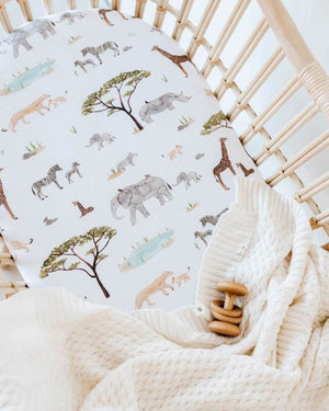 Snuggle Hunny Bassinet Sheet – African Safari