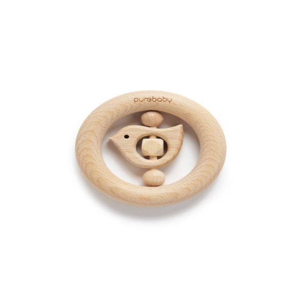 Purebaby Natural Teething Ring – Birdy