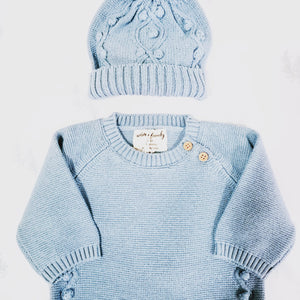 Wilson & Frenchy Knitted Hat & Growsuit – 2 Piece Set