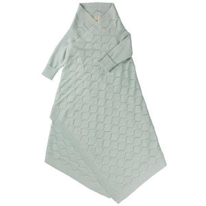 Jujo Baby Diamond Lace Pointelle Shwrap – Mint