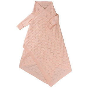 Load image into Gallery viewer, Jujo Baby Diamond Lace Pointelle Shwrap – Rosehip
