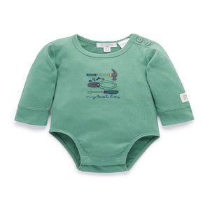 Purebaby Organic Long Sleeve Bodysuit – Green Toolbox