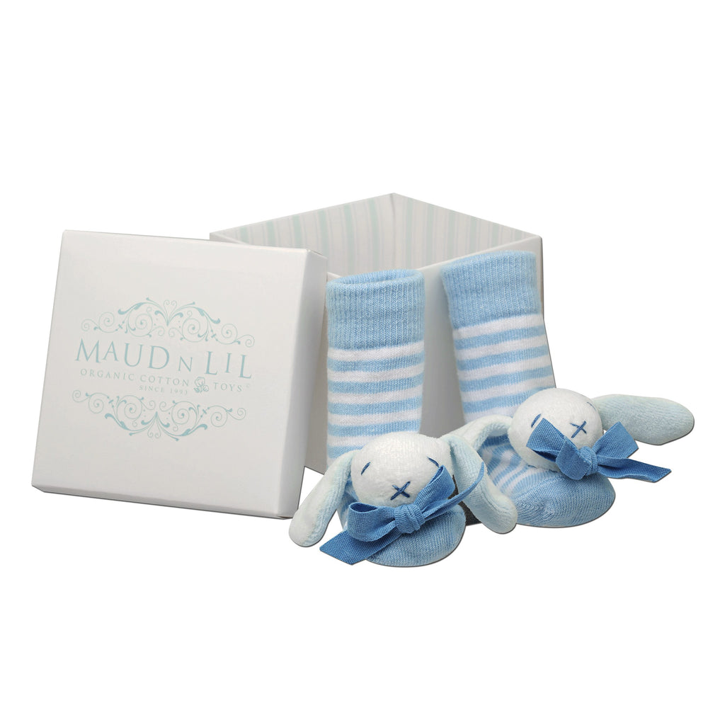 Maud n Lil Baby Jingle Rattle Bell Socks in Gift Box – Oscar the Bunny