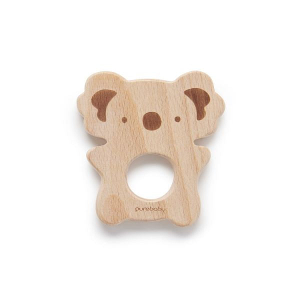 Purebaby Natural Beechwood Koala Teether