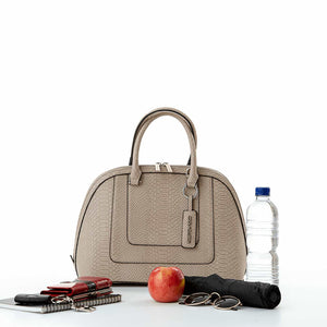Load image into Gallery viewer, Fran Cool Clutch (Cream Crocodile) Cool Classic Cooler Handbag