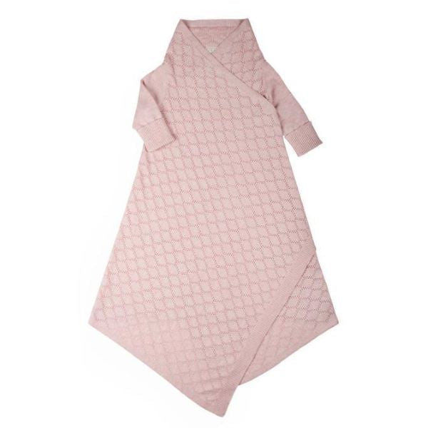 Load image into Gallery viewer, Jujo Baby Pointelle Lace Shwrap – Blush Pink