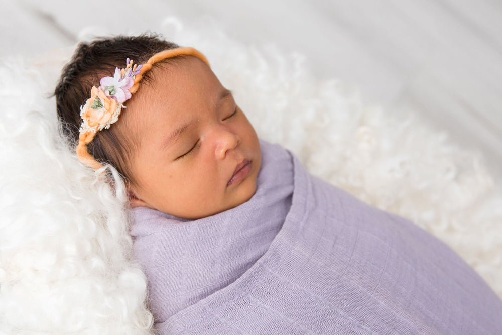 Love & Lee Organic Cotton Muslin Swaddle Wraps – Little Lilac