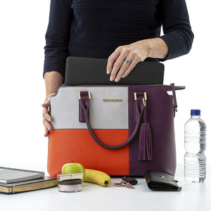 Penny Cool Clutch (Purple, Grey, Orange) Ladies Cool Briefcase