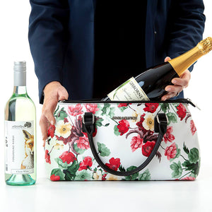 Rosemary Cool Clutch (Green & Red Flowers) Cooler Bag