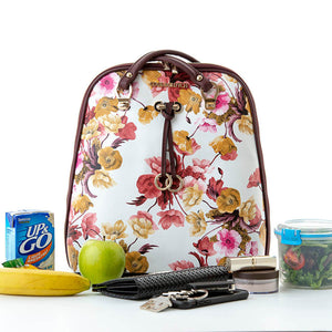 Load image into Gallery viewer, Sharyn Cool Clutch (Plum Flowers) Cool Backpack