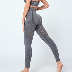 Nahtlose, elastische Push Up Yoga und Gym Leggings