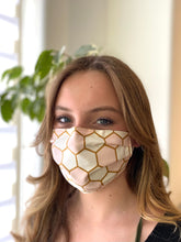 Load image into Gallery viewer, Pink & Gold - 3 Layers Reusable Cotton Cloth Face Mask