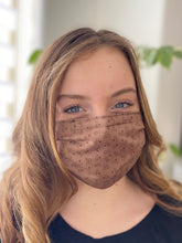 Load image into Gallery viewer, Cocoa - 3 Layers Reusable Cotton Cloth Face Mask