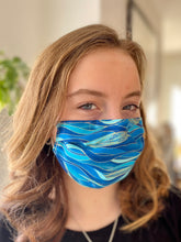 Load image into Gallery viewer, Ripple - 3 Layers Reusable Cotton Cloth Face Mask