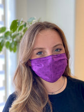 Load image into Gallery viewer, Violet - 3 Layers Reusable Cotton Cloth Face Mask