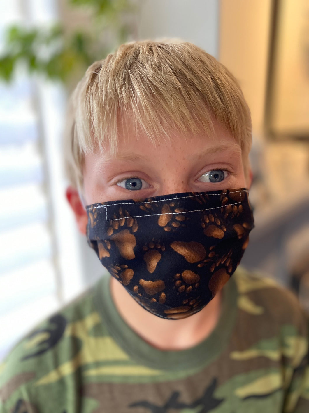 Kids Bear Paw - Reusable Cotton Cloth Child Face Mask