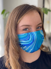 Load image into Gallery viewer, Blue Lagoon - 3 Layers Reusable Cotton Cloth Face Mask