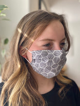Load image into Gallery viewer, Black & White - 3 Layers Reusable Cotton Cloth Face Mask