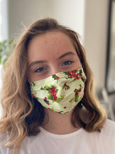 Load image into Gallery viewer, Christmas Holly - 2 Layers Reusable Cotton Cloth Face Mask