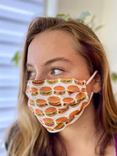Load image into Gallery viewer, Hamburgers! - 2 Layers Reusable Cotton Cloth Face Mask