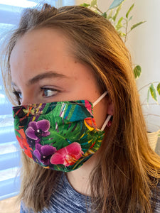 Birdies of Paradise - 3 Layers Reusable Cotton Cloth Face Mask