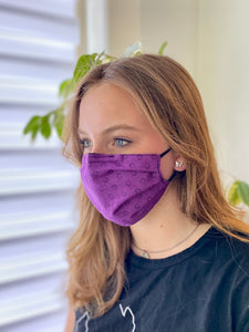 Violet - 3 Layers Reusable Cotton Cloth Face Mask
