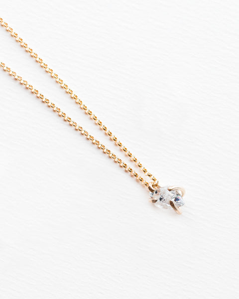 Miriam de Langley Herkimer Diamond Necklace in 14K Gold Fill