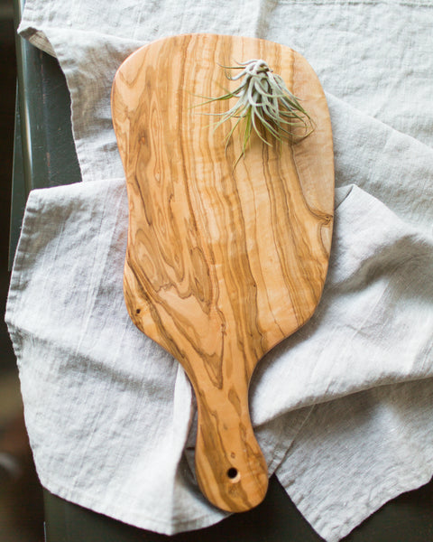 Olive Wood Large Serving Board in Natural