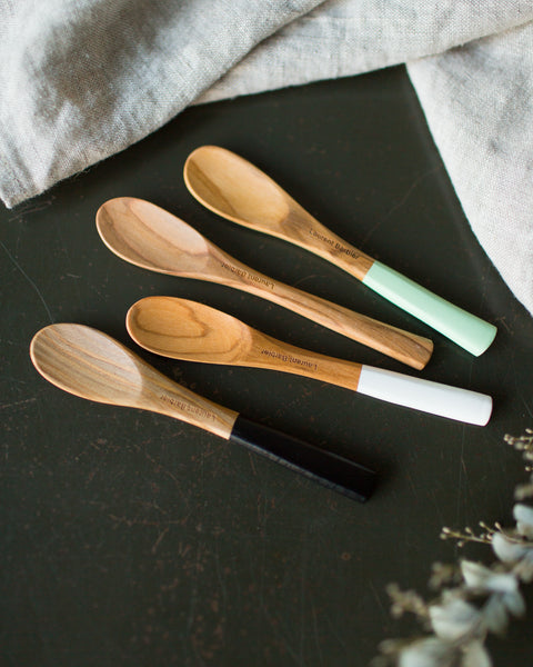 Olive Wood Small Mustard Spoon (in natural only)