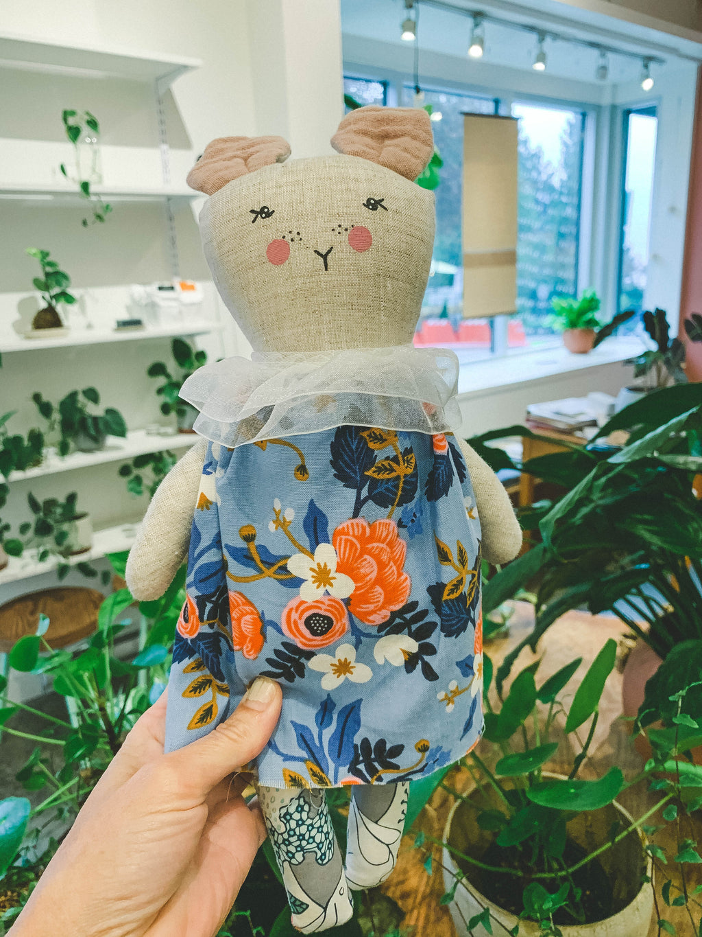 From The Seeds - Heirloom Doll Blue Dress Mouse