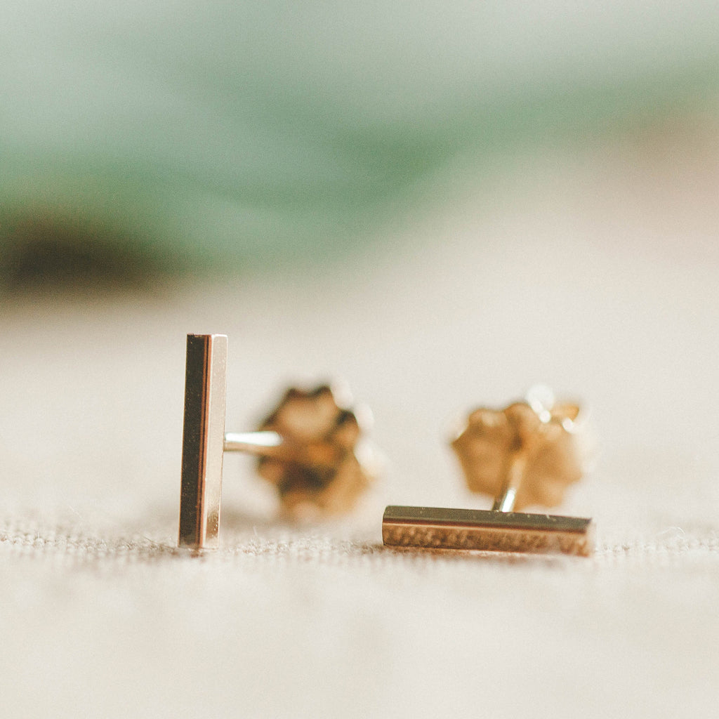 Devi Arts Collective Gold Bar Studs