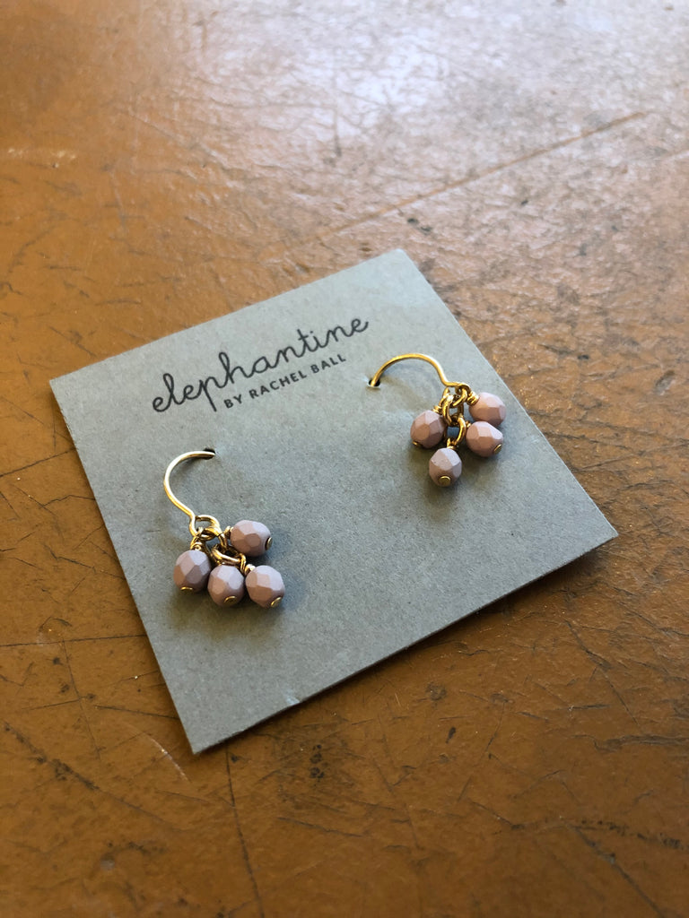 Elephantine Lucky Earrings lilac and gold