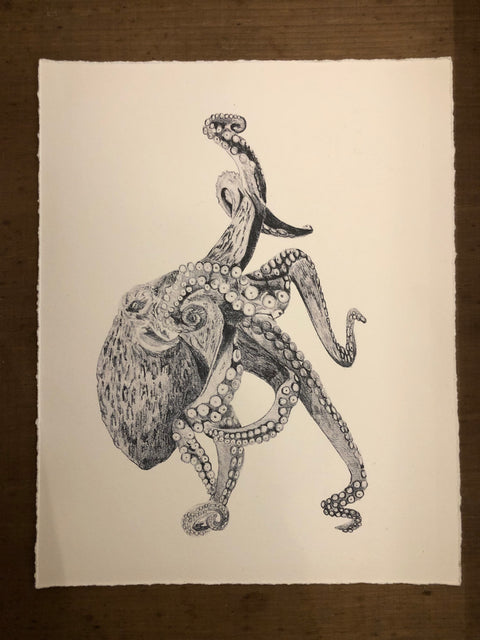 Sarah Hammond Studio Art Print Octopus