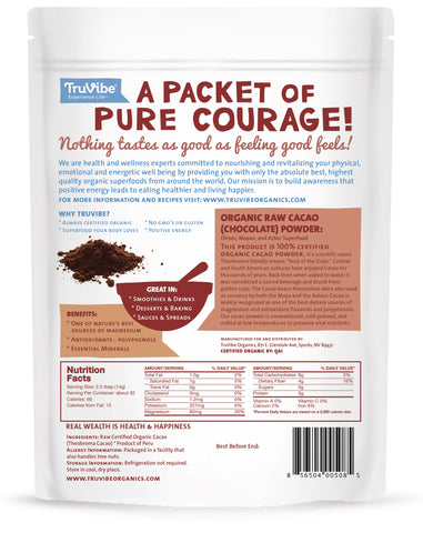 100% Organic Raw Cacao Powder