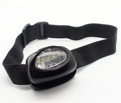 Hands Free Adjustable LED Headlight and Head Band, AAA Batteries Not Included